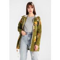 khujo MEROPE Krótki płaszcz yellow/olive KH121U03R