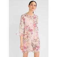 Sisley 3/4 FLORAL BURNOUT STRIPE DRESS Sukienka letnia off-white 7SI21C077