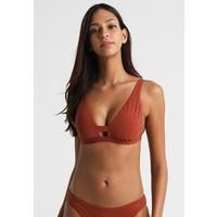 Seafolly ACTIVE LONGLINE Góra od bikini burnt amber S1981J01B