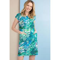 Monnari Tunika sukienka z tropikalnym motywem TUNIMP0-18L-TUN0600-KM08D700-R36