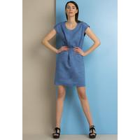 Monnari Lniana, prosta sukienka SUKPOL0-18L-DRE0370-K012D000-R36