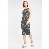 Superdry BEACH LEAF MIDI DRESS Sukienka etui tropical charcoal marl SU221C09O