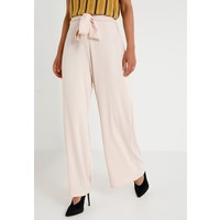 Missguided Petite BELTED WIDE LEG TROUSERS Spodnie materiałowe nude M0V21A028