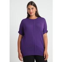 Evans WINGED SLEEVE T-shirt z nadrukiem purple EW221D07U