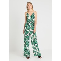 Missguided Tall PALM PRINT STRAPPY WIDE LEG Kombinezon green MIG21T008