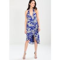 Bardot PETRA FLORAL Sukienka letnia cobalt B0M21C026