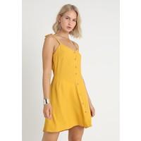 New Look PLAIN TIE STRAP THRU SKATER Sukienka koszulowa mustard NL021C0UZ