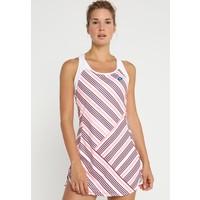 Lotto BARRÈ DRESS Sukienka sportowa white/pink neon 1LO41L00B