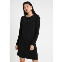 Sisley FRONT RUCHE WAIST DRESS Sukienka z dżerseju nero 7SI21C07C