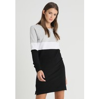 ONLY ONYDORIT ONECK BLOCK DRESS Sukienka letnia black /bright white ON321C13B