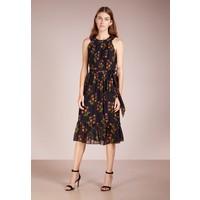 J.CREW DRIED APRICOT DRESS NIGHT FLOWER Sukienka letnia navy multi JC421C023
