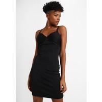 New Look SCALLOP TRIM DRESS Sukienka etui black NL021C0U1