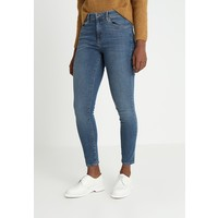 Topshop LEIGH Jeansy Skinny Fit blue denim TP721N0AN