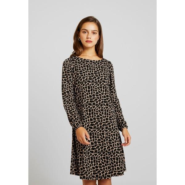 Wallis Petite CAMEL GIRAFFE DRESS Sukienka z dżerseju black WP021C06C