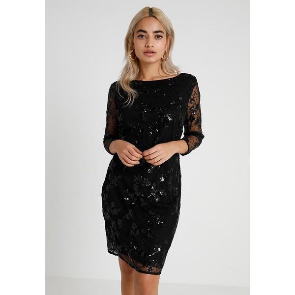 Wallis Petite FLORAH SEQUIN DRESS Sukienka koktajlowa black WP021C04C