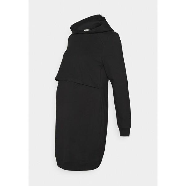 Anna Field MAMA NURSING Day Dress Sukienka letnia black EX429F035