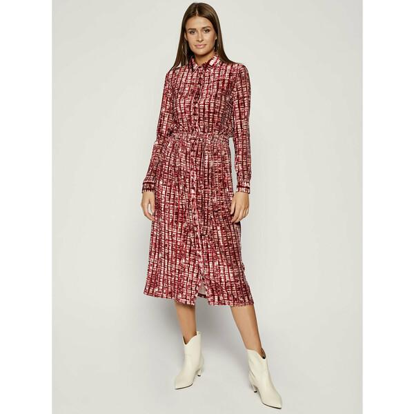 MAX&Co. Sukienka koszulowa Cortile 76248719 Bordowy Regular Fit
