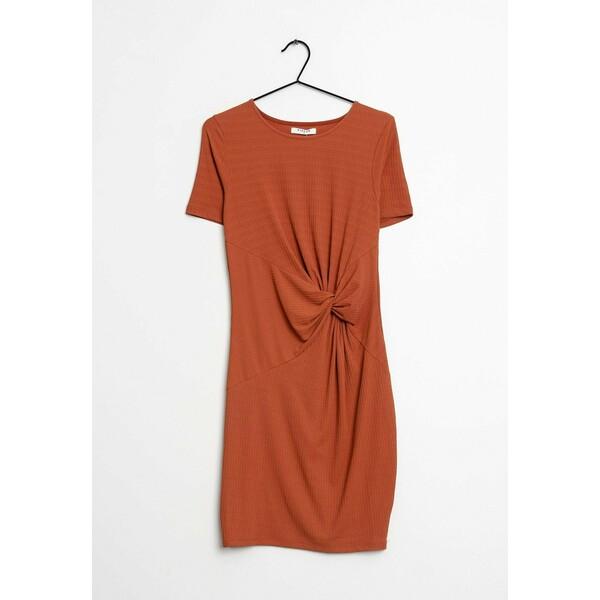 Pieces Sukienka letnia orange ZIR0030S2