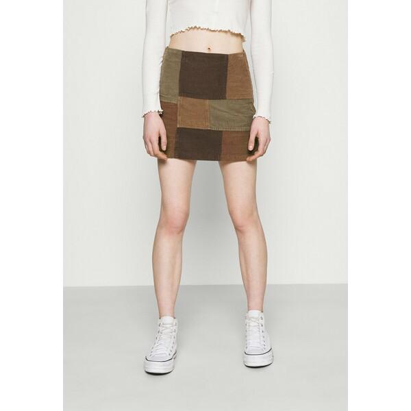 BDG Urban Outfitters PATCHWORK PELMET SKIRT Spódnica mini brown QX721B00D