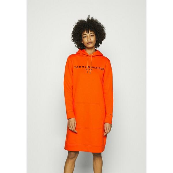 Tommy Hilfiger HOODIE DRESS Sukienka letnia princeton orange TO121C0FZ