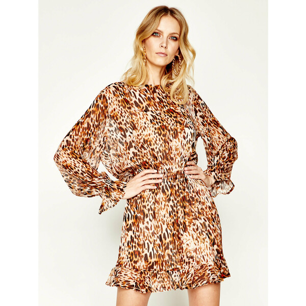 Liu Jo Beachwear Sukienka codzienna VA0219 T5875 Brązowy Regular Fit