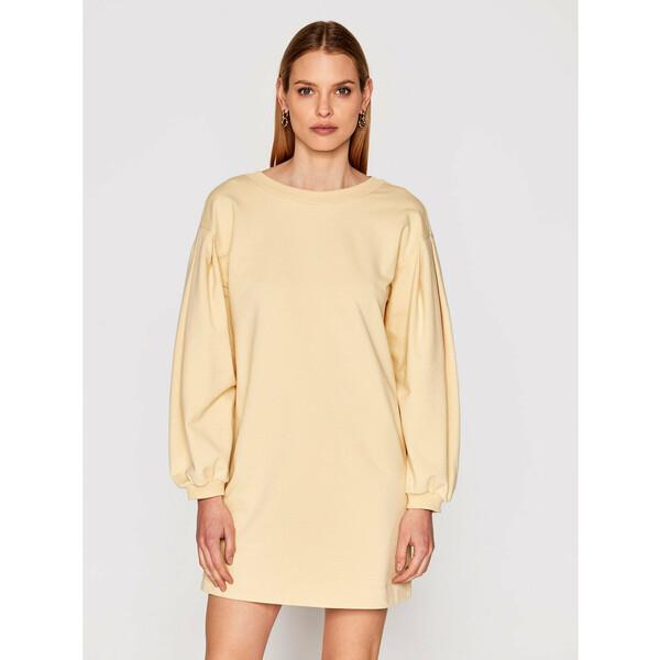 Imperial Sukienka dzianinowa ABRFBCR Żółty Regular Fit