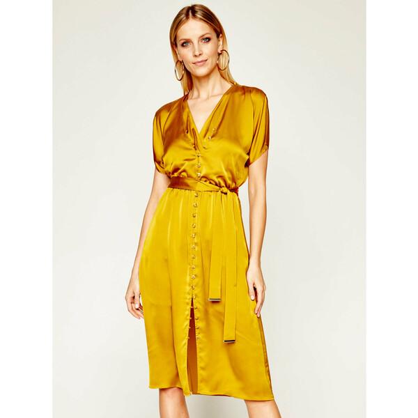 Marciano Guess Sukienka koszulowa Jerone 0GG753 7050Z Żółty Regular Fit