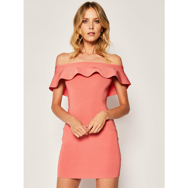 Guess Sukienka koktajlowa Gioia W0GK18 Z2D10 Pomarańczowy Regular Fit