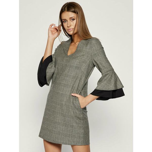 TwinSet Sukienka codzienna 192TT2447 Szary Regular Fit