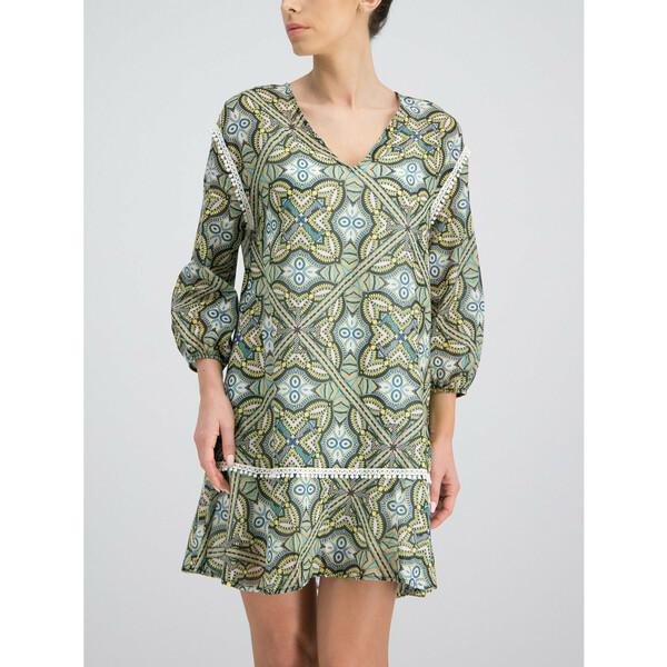 Trussardi Sukienka letnia 56D00229 Zielony Regular Fit