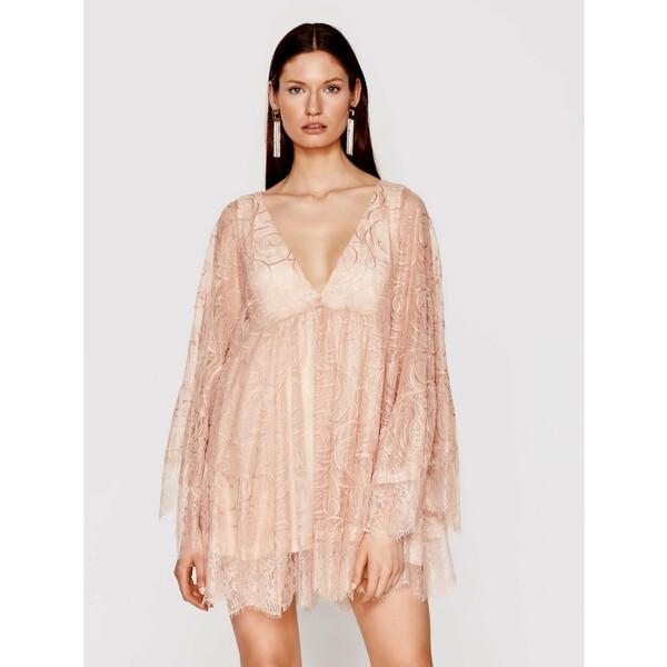 Babylon Sukienka koktajlowa N_MF5008 Różowy Regular Fit