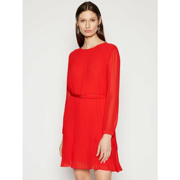 Calvin Klein Sukienka codzienna Ls Plisse K20K202662 Czerwony Regular Fit