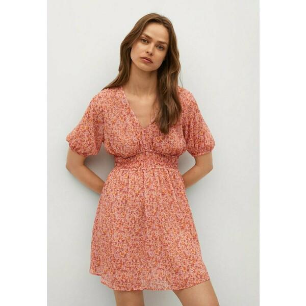 Mango Sukienka letnia różowy M9121C51U