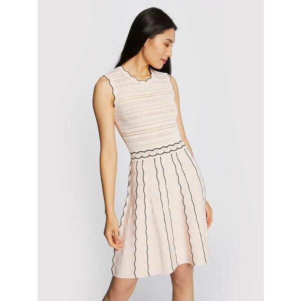 Morgan Sukienka dzianinowa 211-RMOON Różowy Slim Fit
