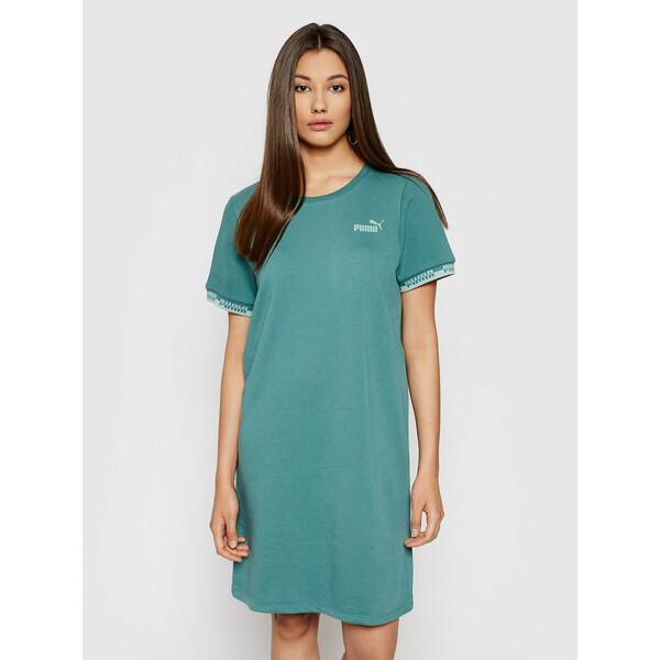 Puma Sukienka codzienna Amplified 585912 Zielony Relaxed Fit