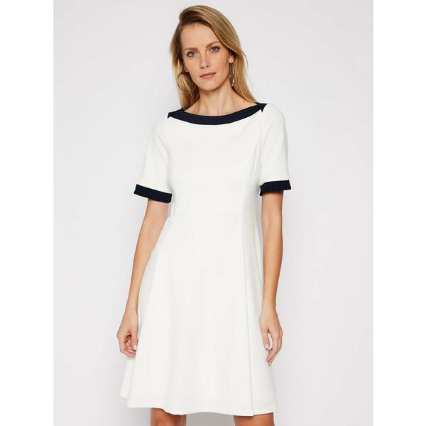 DKNY Sukienka koktajlowa DD0K1503 Biały Regular Fit