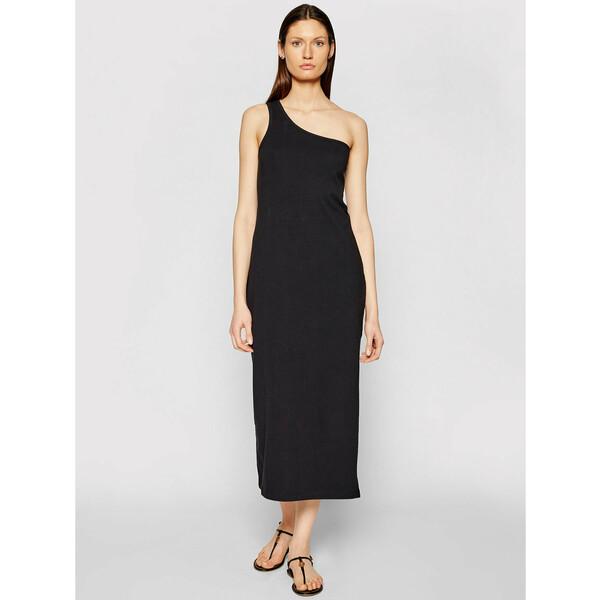 Seafolly Sukienka letnia Schoulder 54229-DR Czarny Regular Fit