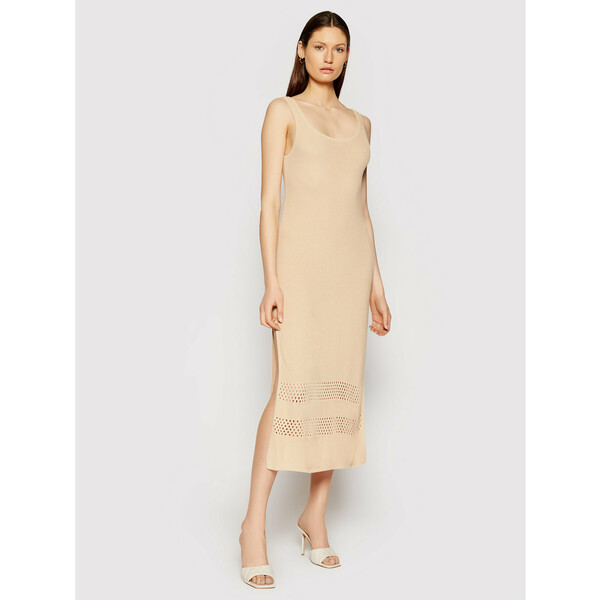 Seafolly Sukienka letnia Terrin 54168 Beżowy Regular Fit