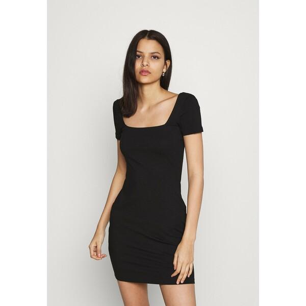 Even&Odd Sukienka z dżerseju black EV421C14Q