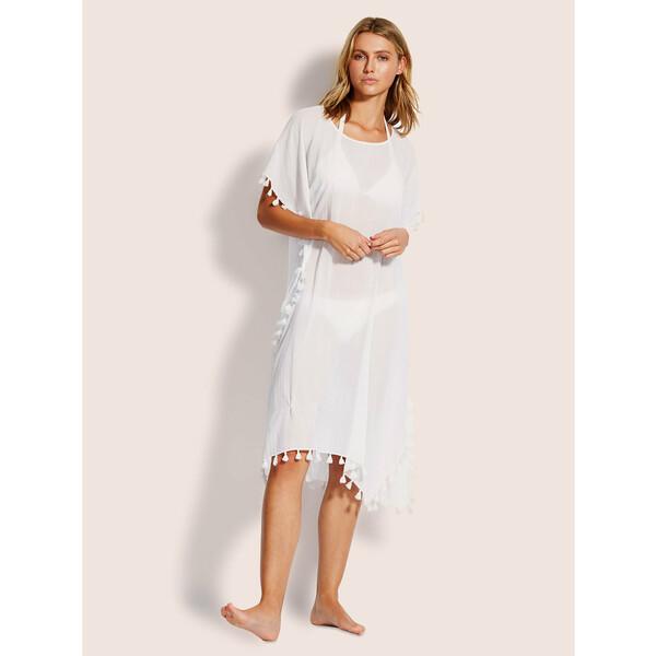 Seafolly Sukienka plażowa Amnesia 53638 Biały Regular Fit