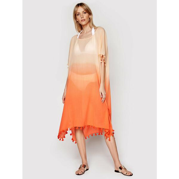 Seafolly Sukienka plażowa Beachedit 54079 Pomarańczowy Relaxed Fit