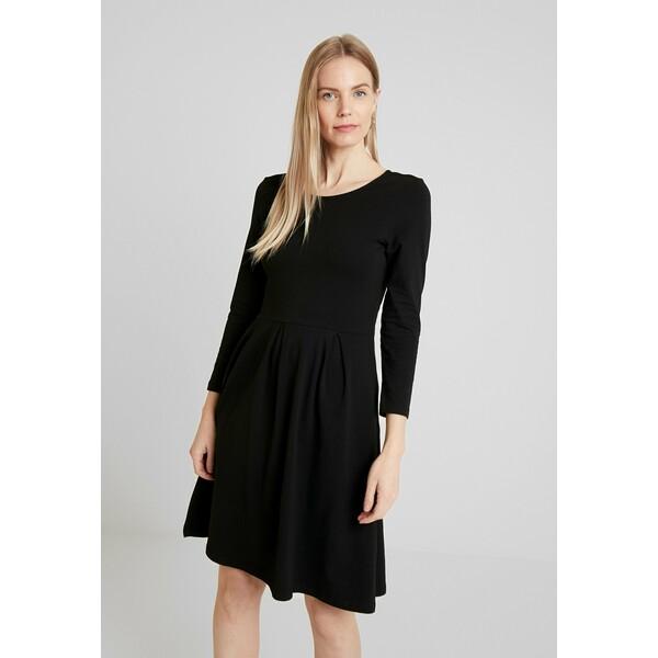 Anna Field Sukienka z dżerseju black AN621C1H0