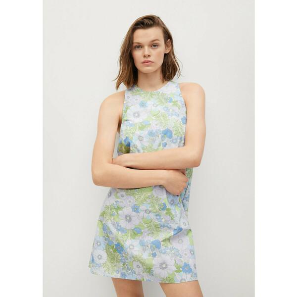 Mango Sukienka letnia Vita 87029404 Kolorowy Regular Fit