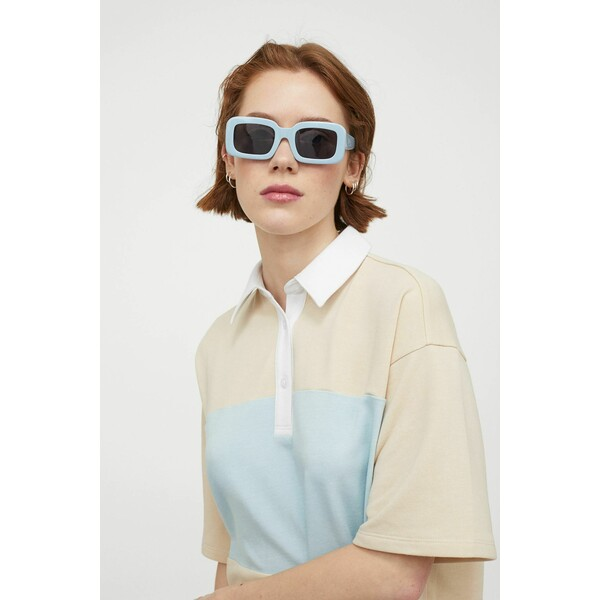 H&M Obszerna sukienka rugby 0963240002 Beżowy/Bloki kolorów