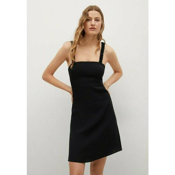 Mango Sukienka letnia zwart M9121C54B
