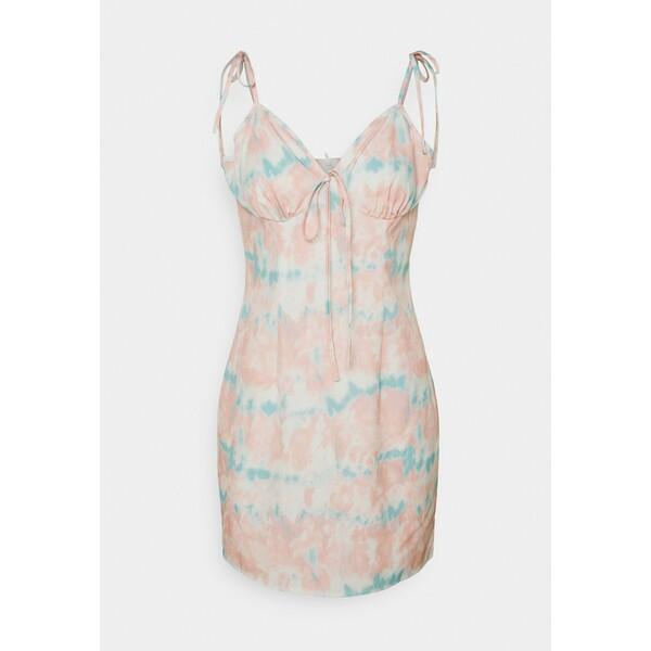 Missguided DYE TIE STRAP MINI DRESS Sukienka letnia pink M0Q21C1XW