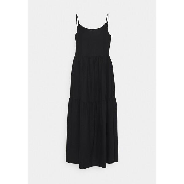 Marks & Spencer London TIERED DRES Sukienka letnia black QM421C05X