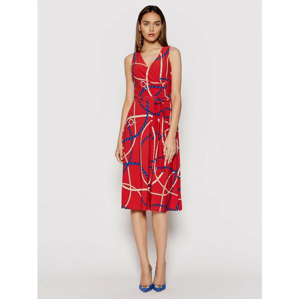 Lauren Ralph Lauren Sukienka codzienna 250837455002 Czerwony Regular Fit