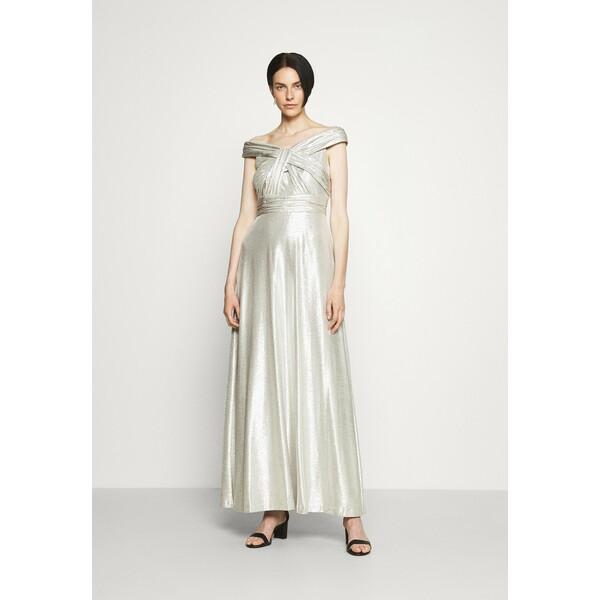 Lauren Ralph Lauren QUINCY SLEEVELESS EVENING DRESS Suknia balowa silver L4221C18A
