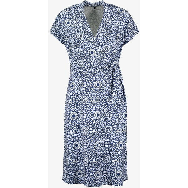 Gerry Weber Sukienka letnia blau/ecru/weiss druck GW121C061